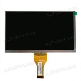 705-070 V1 ZXTC Inner LCD Display Screen for 7 Inch Android Tablet PC Replacement