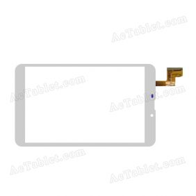 YLD-CEG8489-FPC-A0 Digitizer Glass Touch Screen Replacement for 8 Inch MID Tablet PC