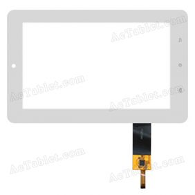 70272B4 Digitizer Glass Touch Screen Replacement for 7 Inch MID Tablet PC