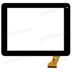 HK80DR2488 Digitizer Glass Touch Screen Replacement for 8 Inch MID Tablet PC