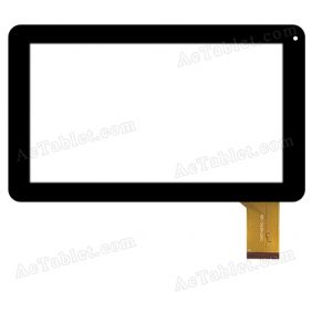 CN074FPC-V0 Digitizer Glass Touch Screen Replacement for 9 Inch MID Tablet PC