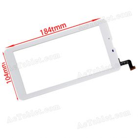 PM1552490P708V00 Digitizer Glass Touch Screen Replacement for 7 Inch MID Tablet PC