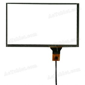 ZCC-2212 V2 FPC Digitizer Glass Touch Screen Replacement for Car GPS MID Tablet PC