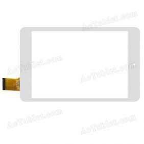 DX0092-080B FPC Digitizer Glass Touch Screen Replacement for 7.85 Inch MID Tablet PC