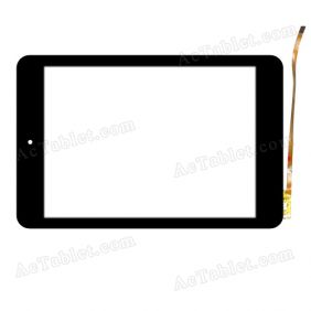 RS8F363_V1.0 Digitizer Glass Touch Screen Replacement for 8 Inch MID Tablet PC