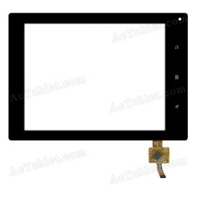 RS8F0403024V1.2 Digitizer Glass Touch Screen Replacement for 8 Inch MID Tablet PC