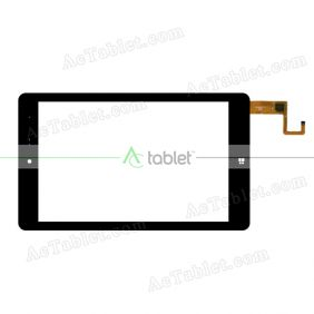 F-WGJ80162-V1 Digitizer Glass Touch Screen Replacement for 8 Inch MID Tablet PC