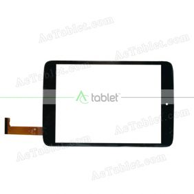 YJ152FPC-V0 Digitizer Glass Touch Screen Replacement for 8 Inch MID Tablet PC