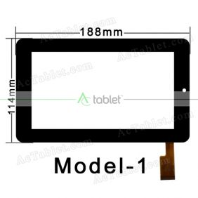 Digitizer Glass Touch Screen Replacement for eStar MID7114 7 Inch Tablet PC