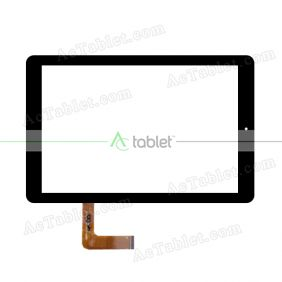 HSCTP-713(F106)-10.1-V2 Digitizer Glass Touch Screen Replacement for 10.1 Inch MID Tablet PC