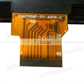 YQL070DMP-IPS-40PIN-0 LCD Display Screen Replacement for 7 Inch Tablet PC