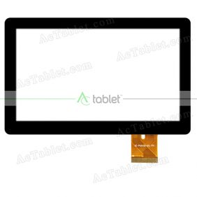 XC-PG0430-001 FPC Digitizer Glass Touch Screen Replacement for 4.3 Inch MID Tablet PC