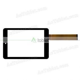YJ786FPC-V0 Digitizer Glass Touch Screen Replacement for 7.85 Inch MID Tablet PC