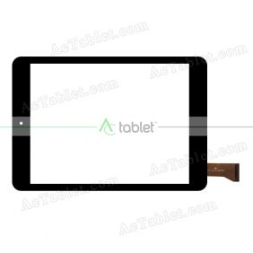 UK080022G-01-FPC V0.1 Digitizer Glass Touch Screen Replacement for 8 Inch MID Tablet PC