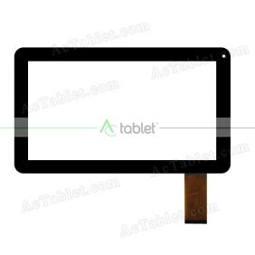 HN 1027FPC V1 Digitizer Glass Touch Screen Replacement for 10.1 Inch MID Tablet PC