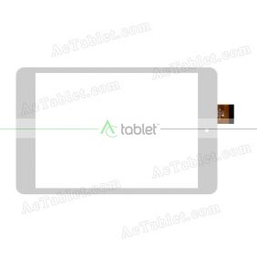 YK806-0523-LSW Digitizer Glass Touch Screen Replacement for 8 Inch MID Tablet PC