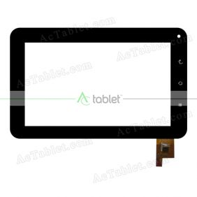 DR-F-07061-V1 Digitizer Glass Touch Screen Replacement for 7 Inch MID Tablet PC
