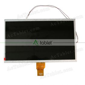 Replacement KR101LD6S 1030300334 REV:A LCD Screen for 10.1 Inch Tablet PC