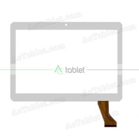 MJK-0607-V1 FPC/2016.05.05 Digitizer Glass Touch Screen Replacement for 10.1 Inch MID Tablet PC