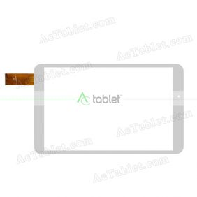 F-WGJ80111-V2 Digitizer Glass Touch Screen Replacement for 7.9 Inch MID Tablet PC