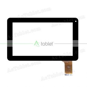 YJ114FPC-V0 Digitizer Glass Touch Screen Replacement for 9 Inch MID Tablet PC