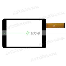 YJX11-V078-V0 Digitizer Glass Touch Screen Replacement for 7.9 Inch MID Tablet PC