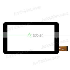YJ199FPC-V0 Digitizer Glass Touch Screen Replacement for 7 Inch MID Tablet PC