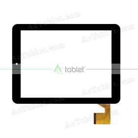 YJZ04FPC-V0 Digitizer Glass Touch Screen Replacement for 8 Inch MID Tablet PC