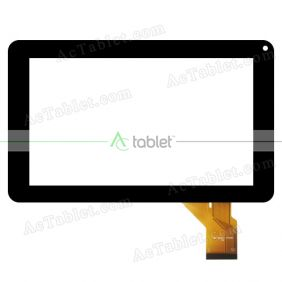 HD53-V00 PFKC Digitizer Glass Touch Screen Replacement for 9 Inch MID Tablet PC