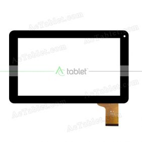YJ136FPC-V0 Digitizer Glass Touch Screen Replacement for 9 Inch MID Tablet PC