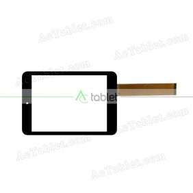 300-L4589B Digitizer Glass Touch Screen Replacement for 7.9 Inch MID Tablet PC
