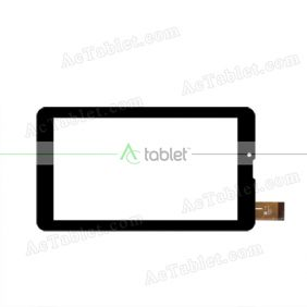 YJ123FPC-V0 Digitizer Glass Touch Screen Replacement for 7 Inch MID Tablet PC
