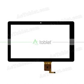 ZHC-0327A Digitizer Glass Touch Screen Replacement for 10.1 Inch MID Tablet PC