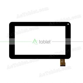 YJ041FPC-V0 Digitizer Glass Touch Screen Replacement for 7 Inch MID Tablet PC