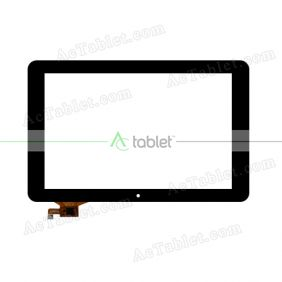 702-10016-03 Digitizer Glass Touch Screen Replacement for 10.1 Inch MID Tablet PC