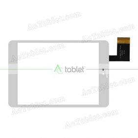 DH-0807-PG-FPC100 Digitizer Glass Touch Screen Replacement for 8 Inch MID Tablet PC