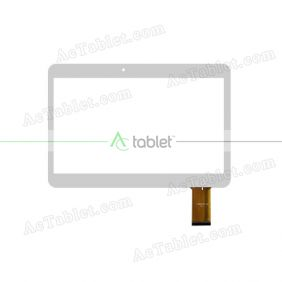 YJ353FPC-V0 Digitizer Glass Touch Screen Replacement for 10.1 Inch MID Tablet PC