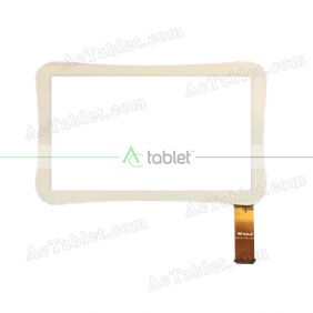 WJ915-FPC-V1.0 Digitizer Glass Touch Screen Replacement for 7 Inch MID Tablet PC