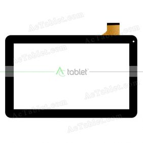 YJ308FPC-V0 Digitizer Glass Touch Screen Replacement for 10.1 Inch MID Tablet PC
