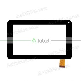 CN010C0700-FPC-V0 Digitizer Glass Touch Screen Replacement for 7 Inch MID Tablet PC