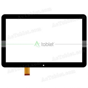 1695 FPC Digitizer Glass Touch Screen Replacement for 10.1 Inch MID Tablet PC