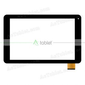 Digitizer Touch Screen Replacement for Wolder miTab VERMONT Quad Core 10.1 Inch Tablet PC