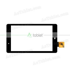 FPC080-0758A Digitizer Glass Touch Screen Replacement for 8 Inch MID Tablet PC