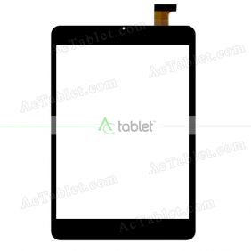 Digitizer Glass Touch Screen Replacement for ZTE S8Q Black Color Quad Core 7.85 Inch Tablet PC