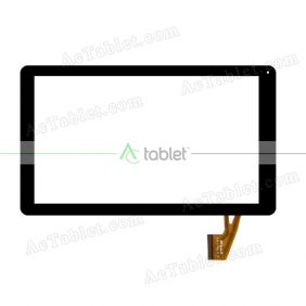 WJ816-FPC V1.0 Digitizer Glass Touch Screen Replacement for 10.1 Inch MID Tablet PC