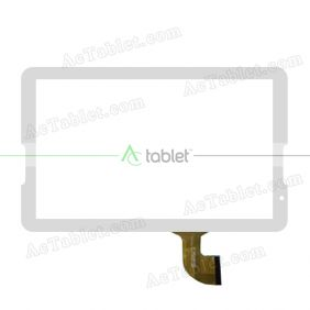 DH-1054A1-PG-FPC173-V3.0 Digitizer Glass Touch Screen Replacement for 10.6 Inch MID Tablet PC