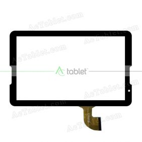 DH-1054A1-PG-FPC173-V2.0 RX18*TX28 Digitizer Glass Touch Screen Replacement for 10.6 Inch MID Tablet PC