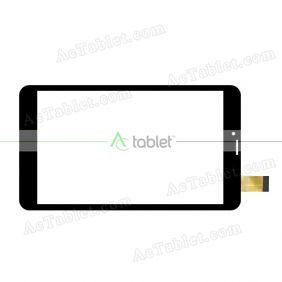 YJ314FPC-V0 Digitizer Glass Touch Screen Replacement for 8 Inch MID Tablet PC