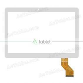 DXP2-0597-101B Digitizer Glass Touch Screen Replacement for 10.1 Inch MID Tablet PC
