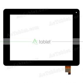 A0208-FO-B Digitizer Glass Touch Screen Replacement for 8 Inch MID Tablet PC